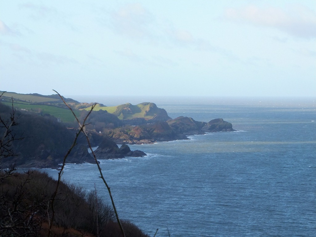 Looking at the North Devon coast from Exmoor