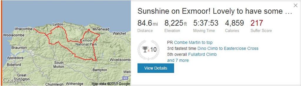 Exmoor Road Cycling Ride Lynton Exford Dulverton Porlock