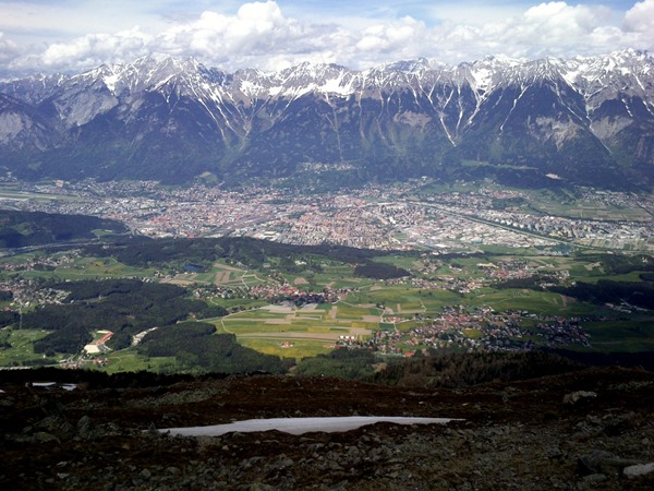 Innsbruck from the patscherkofel summit