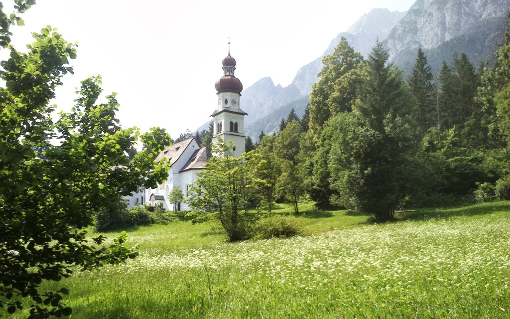 the Church in Gnadenwald, Tirol, Austria