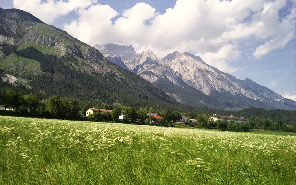 The Karwendal Mountains from Absam in Tirol