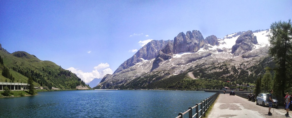 Lago di Fedaia and the Marmolada in the background