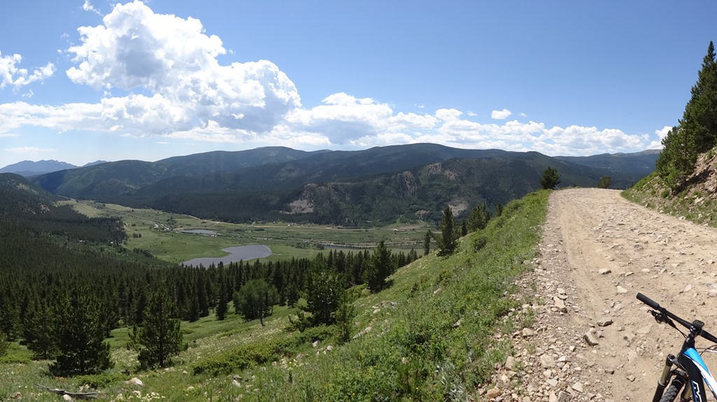 Looking over coal creek from high up on Rollins pass road
