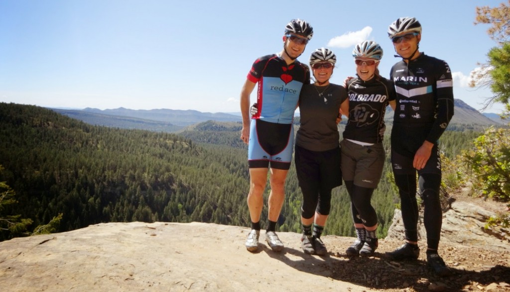 Bryan, Katie, Christa and I at Gudys rest. Overlooking Junction Creek