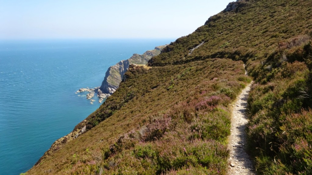 The coast path climbing out of Hunter's Inn towards Combe Martin. This path gains 900 feet in a mile