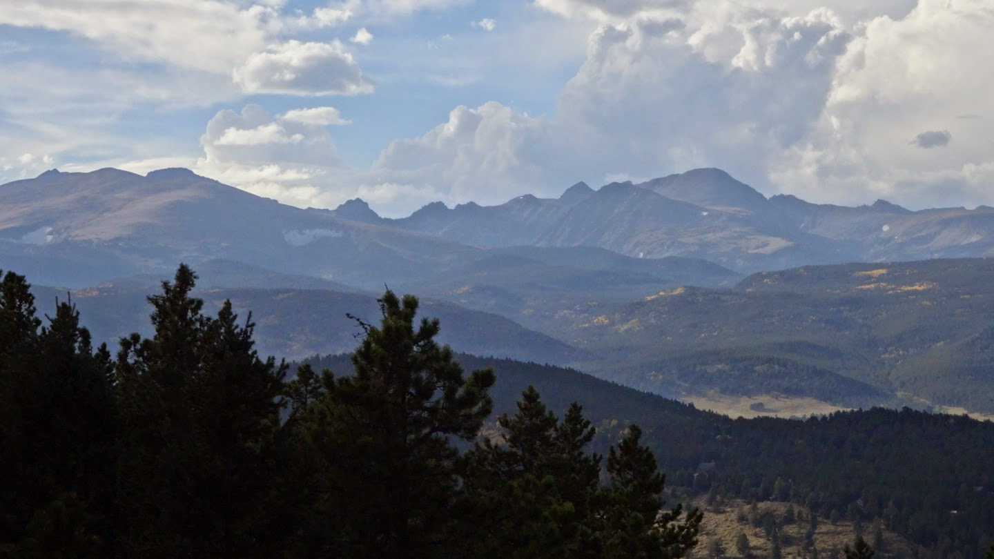 The view to the west: the indian peaks wilderness area